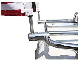 """Pro Pad 1/2""""extended bandera Kit de montaje de acero inoxidable con 6"""" x9""""y 9"""" poste de bandera de Estados Unidos con cono decoración"""