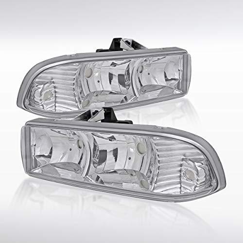 Autozensation Chevy S10 Blazer Euro Chrome Clear Headlights Head Lamps