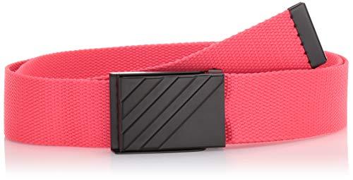 (adidas Golf Webbing Belt, Shock Red, One Size)