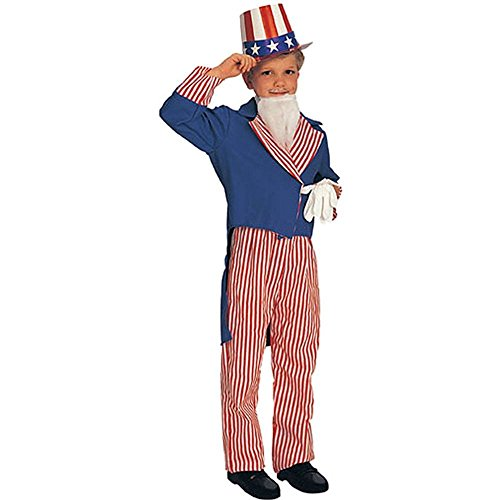 Uncle Sam Child Costume Small (Young Uncle Sam Childrens Costumes)