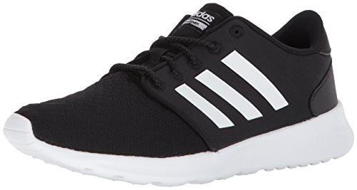 adidas Women's Cloudfoam QT Racer Running Shoe, Black/White/Carbon, 8 M ()