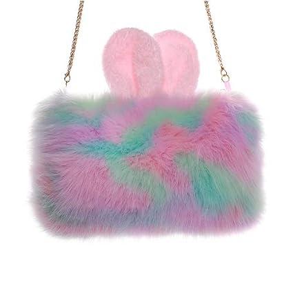 49b6ecc49 Plush Rabbit Ears Hot Water Bottle Cover Portable Hand Warmer Cover ...