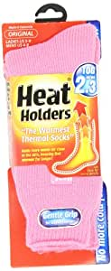 Heat Holders Thermal Socks, Women's Original, US Shoe Size 5-9, Light Pink