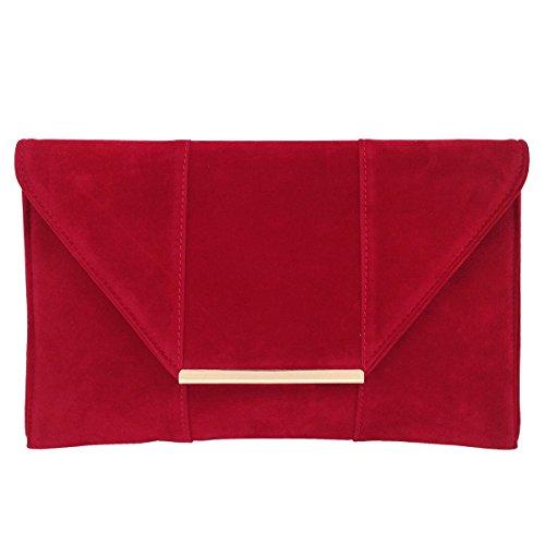 JNB Women's Faux Microsuede Envelope Clutch ()