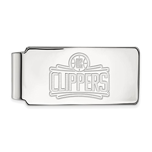 NBA Los Angeles Clippers Money Clip in Rhodium Plated Sterling Silver by LogoArt