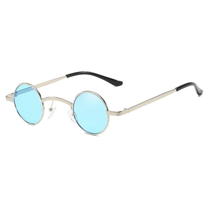 Yuandongxing Mujeres Hombres Lente Redonda Gafas de Sol de ...