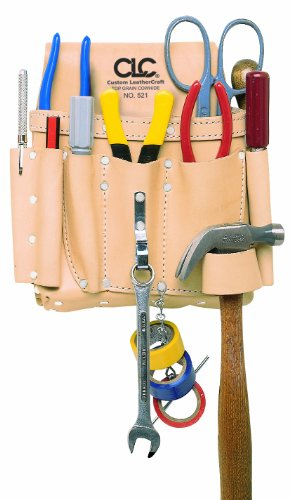 CLC Custom Leathercraft 521 Electrician's Tool Pouch, Heavy Duty, 8-Pocket