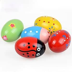 Vovotrade Toy Regalo para Niños Huevos de Madera Juego