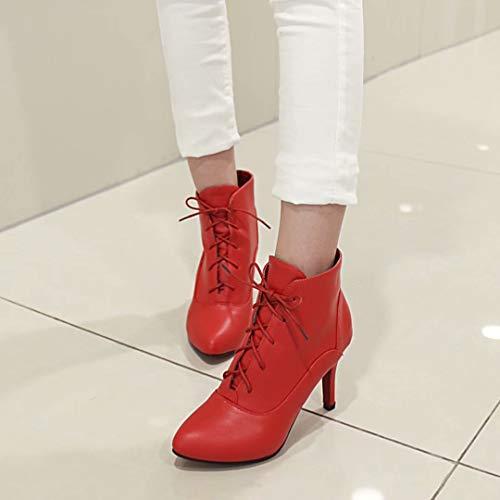 Boot Red AIYOUMEI Classic AIYOUMEI Women's Women's 6Taqv