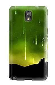 Galaxy Note 3 Case Bumper Tpu Skin Cover For Green Abstract City Accessories