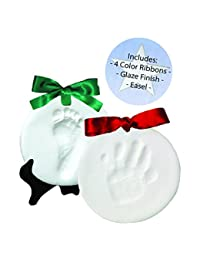 Proud Baby DELUXE Clay Hand Print & Footprint Keepsake Kit - Dries Stone Hard - No Bake - Air Drying (Makes 2 Plaques) BOBEBE Online Baby Store From New York to Miami and Los Angeles