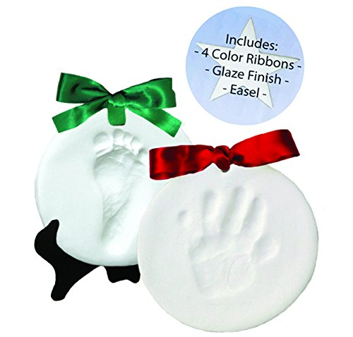 DELUXE Clay Hand Print & Footprint Ornament Set