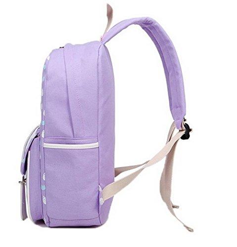 Sacs AgooLar Sacs GMBBB180930 Achats à Zippers fourre Violet Toile Femme bandoulière tout 66qxfw0A