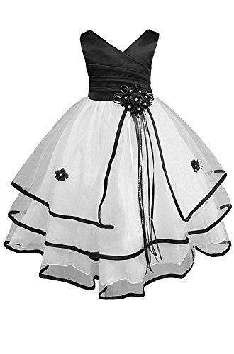 8c8cb27471c Galleon - AMJ Dresses Inc Little-Girls' Black Flower Girl Pageant Dress  S138 Sz 6