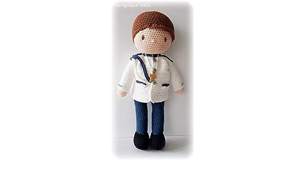 Muñeco crochet PERSONALIZADA COMUNIÓN Mariquilla.: Amazon.es ...