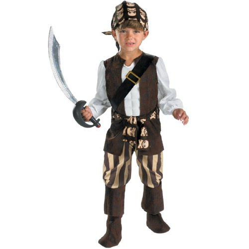 [Rogue Pirate Toddler Costume, 3T-4T by Disguise Costumes] (Toddler Boys Pirate Costumes)