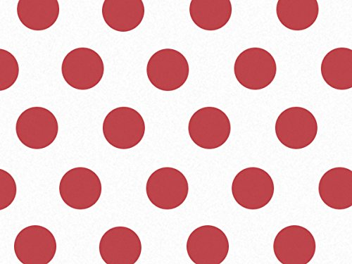 Red Polka Dot Tissue Paper 240~20''x30'' Sheets Recycled (240 Sheets) - WRAPS-P1391 by Miller Supply, Inc.