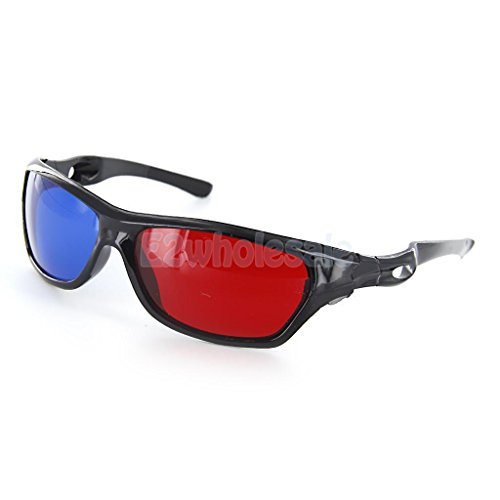 [해외]MagiDeal Pair 플라스틱 패시브 레드 블루 3D 안경 애너 글리프 시네마 홈 무비/MagiDeal Pair Plastic Passive Red Blue 3D Glasses Anaglyph Cinema Home Movie