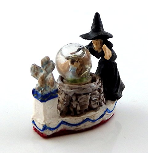 Melody Jane Dolls Houses House Falcon Miniature 1:12 Halloween Accessory Witch Water Globe -