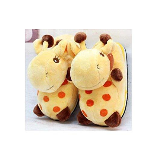 Pantofole Animale Casa Felpa A Giraffe STwYS