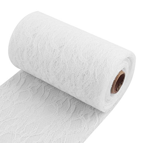 eDealMax casa festa di nozze fai da te Handmade che cuce vestiti tavolo sedia decorazione in pizzo nastro bianco