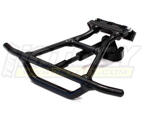 Integy Alloy Rear Bumper (Integy RC Model Hop-ups T8549BLACK Alloy Rear Bumper Conversion for Traxxas 1/10 Slash 4X4 (non-LCG))