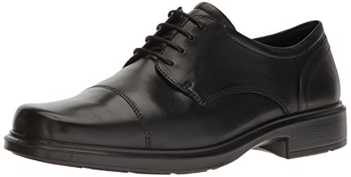 ECCO Men's Helsinki Cap Toe 39 EU/5-5.5 M Oxford, Black, 43 EU/9-9.5 M (Ecco Cap Toe Cap)