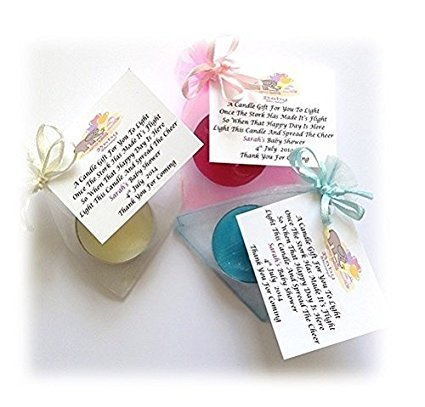 10 X Personalised Baby Shower Scented Candle Favoursgifts Amazon