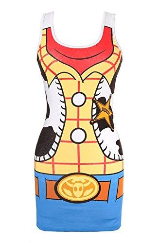 Toy Story I Am Woody Juniors Tunic Tank Dress (Small) (Toy Story Dress Women)