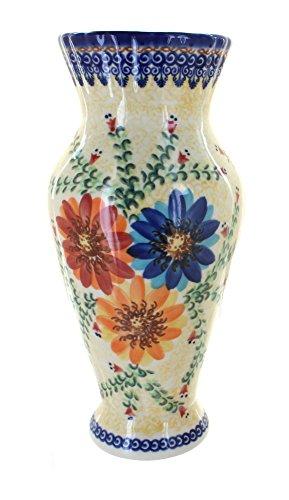 Polish Pottery Autumn Burst Tall Vase