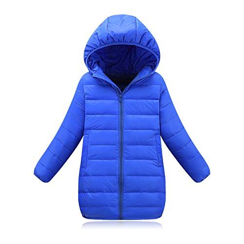 Price comparison product image Baqijian Girls Parka Winter Coat Fur Children Down Jackets Coats Cotton-Padded Coat Kids Outerwear 4-13Y Blue 11
