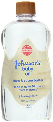 Johnson's Baby Oil Shea and Cocoa Butter, 20 Fl Oz (Pack of 3) by Johnson's Baby