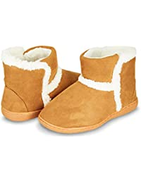 Womens Indoor Outdoor Bootie Slipper - Sherpa Fur Lined Clog W/Memory Foam