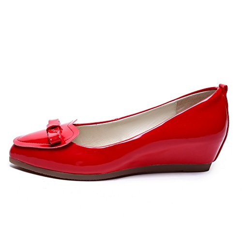 Femme shoes toe red cuir balamasa brevet en pointed en avec métal pumps UvxnwdEq