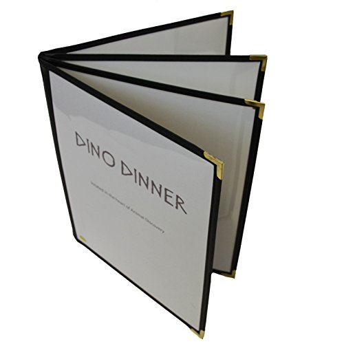 Custom Menu Cover - 25 Pack - Clear Cafe Restaurant Menu Cover - 11