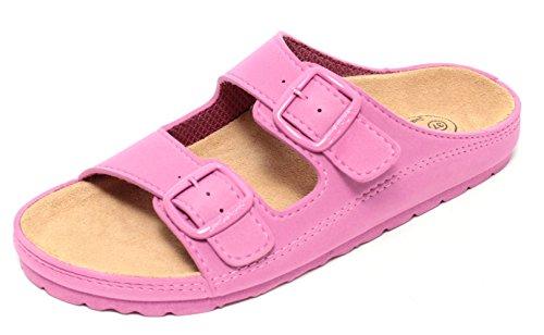Damen Bio Clogs Tieffußbett Pantolette Sandale Slipper Schuhe WALDBEERE PINK Gr. 37-39