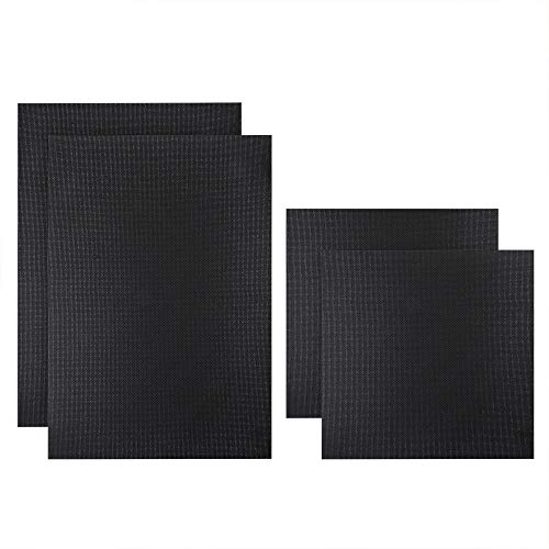 Caydo 4 Pieces 14 Count Classic Reserve Aida Cloth Cross Stitch Cloth, 2 Pieces 12 by 18 Inch and 2 Pieces 12 by 12 Inch, Black - $21.00