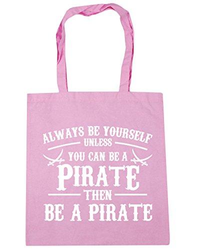 HippoWarehouse Always be du selbst es sei denn you can't Be a Piraten Einkaufstasche Fitnessstudio Strandtasche 42cm x38cm, 10 liter - Klassisch Rosa, One size