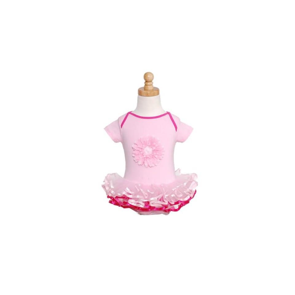 Posh Intl Pink Flower Ballet Tutu Dress Baby Girls Dance Leotard Outfit 3