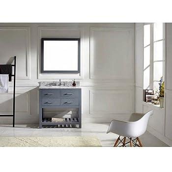 Virtu USA MS 2236 WMSQ GR Transitional 36 Inch Single Sink Bathroom. 36  Farmhouse Vanity     Amazon com