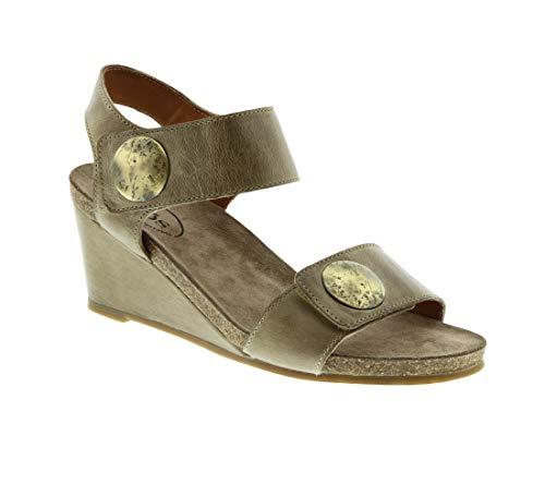 Taos Women's Carousel Stone Leather Sandal 41 M ()