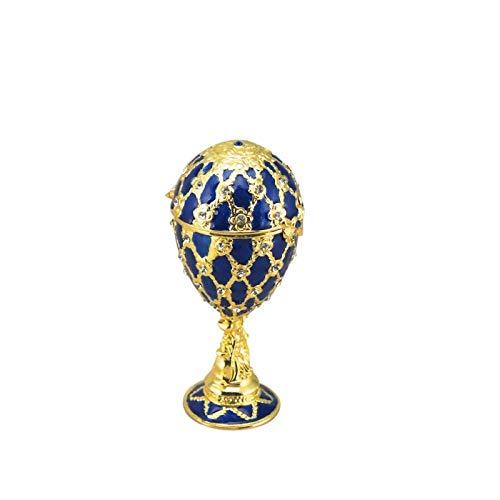 【初売り】 Blue B01HDV4LJ4 Jewellery Egg Egg in Faberge Danube Style Plays Blue Danube B01HDV4LJ4, 住宅資材本舗 コヤマ:637557ee --- arcego.dominiotemporario.com