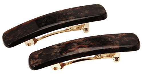 France Luxe Mini Rectangle Barrette Pair - Mojave (France Luxe Mini)