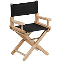Kid Size Directors Chair in Black