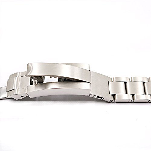 20mm Solid Curved End Screw Links Replacement Watch Band Oyster Bracelet For Deepsea by Generic (Image #4)