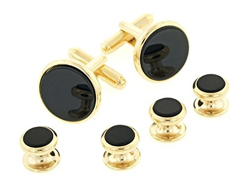 JJ Weston Onyx Tuxedo Cufflinks and Shirt Studs. Made in the USA. ()