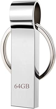 Erasky Waterproof 64GB USB Flash Drive Thumb Drive Pen Drive Memory Stick with Keychain (64gb)