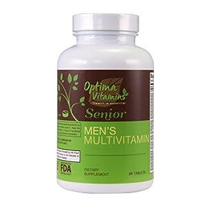 Optima Vitamins – Seniors Men's Multi-Vitamin 60 Tablets – Best Multi-Vitamin for Senior Men Over…