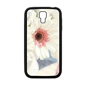 Personalized Clear Phone Case For Samsung Galaxy S4,white flowers