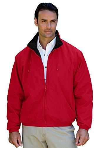 (Vantage Men's Hampton Microfiber Lightweight Jacket, Red / Black, XL)